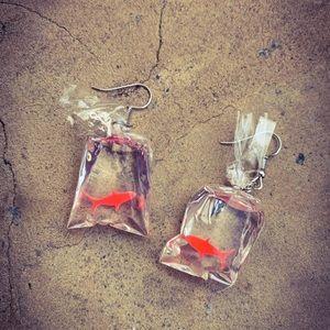 Unique Acrylic Koi Fish Dangle Earrings